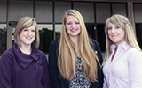 CSU veterinary students Rachel Wanty, Emily Spulak and Ericka Meyers earned significant scholarships through AVMA and Merck