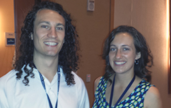 Two CSU Health Physics students at the HPS annual meeting
