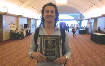CSU Health Physics student Dayton McMillan received award for best paper