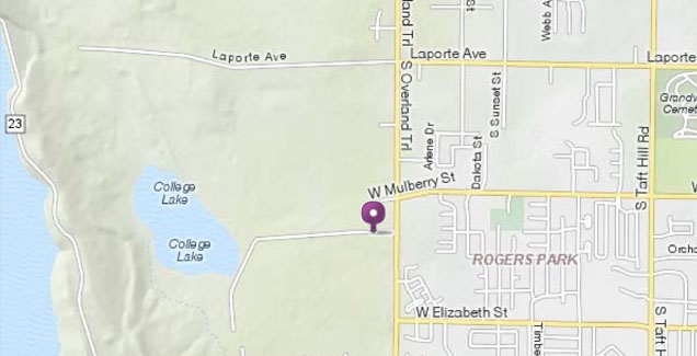 Mapquest image of the location of the ERL