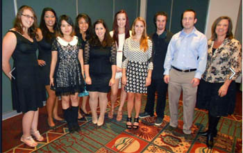 Undergraduate Environmental Health students at the 2013 CEHA conference