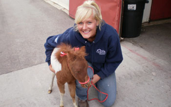 ERL Intern with a miniature horse