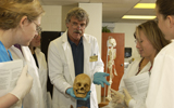 Undergraduate Students in Anatomy Lab