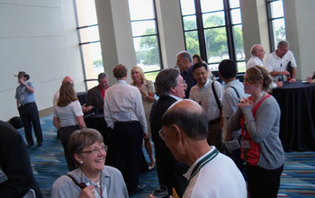 Alumni and friends mingle at the HPS CSU reception