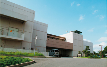 Exterior of the HIMAC facility in Chiba, Japan